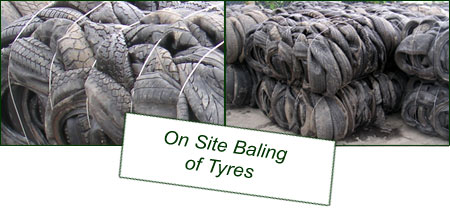 On Site Baling of Tyres